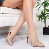 Pantofi Mizina bej eleganti