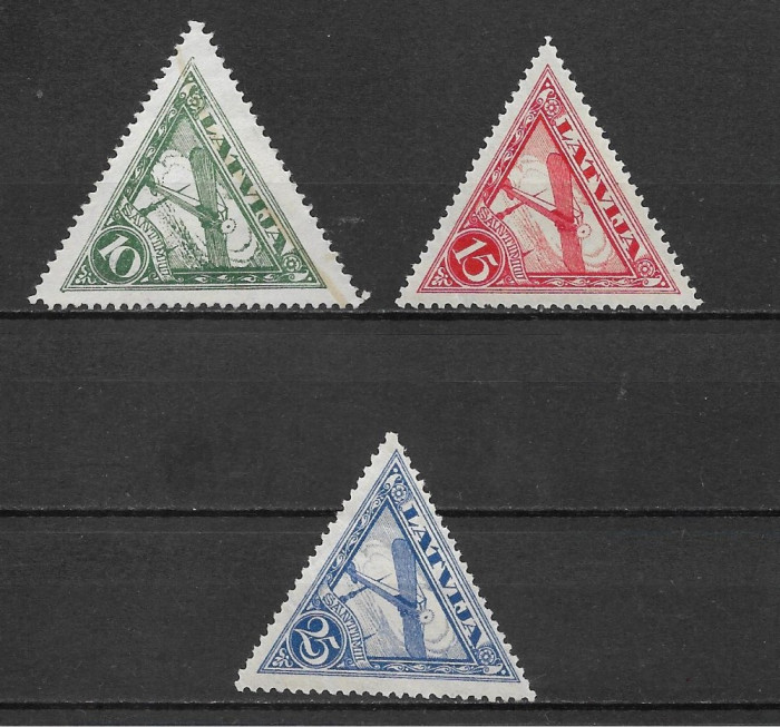 Letonia 1928-1931, airmail