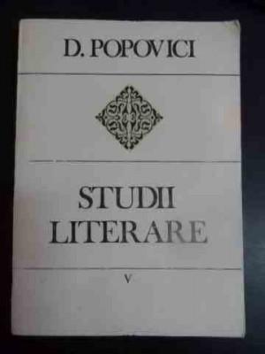 Studii Literare V - D. Popovici ,543822 foto