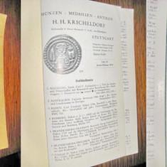 Catalog Monede aur antice Sttutgart 1959.