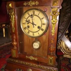 Superb!..Ceas antic de șemineu,birou in stilul Napoleon 3