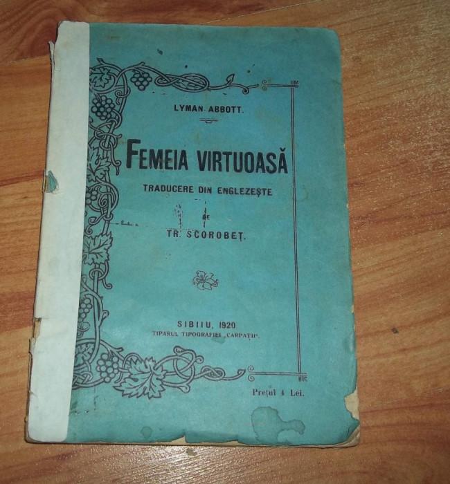 Lyman Abbott - Femeia virtuoasa (1920) foto mare