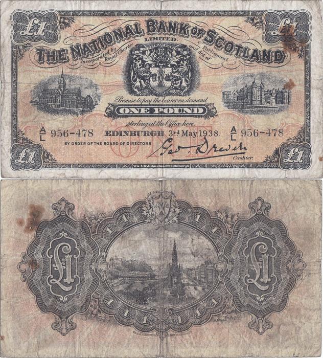 1938 (3 V), 1 pound (P-257a.8) - Scoția! (CRC: 100%)