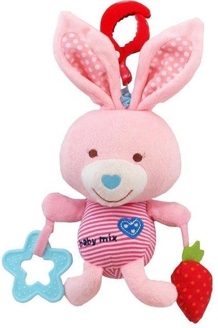 Jucarie muzicala din plus Pink Rabbit foto mare
