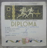 Diploma sportiva// Uniunea Generala a Sindicatelor, 1974