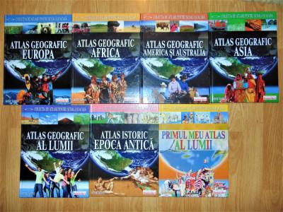 COLECTIA DE ATLASE PENTRU SCOALA SI ACASA 7 VOLUME foto