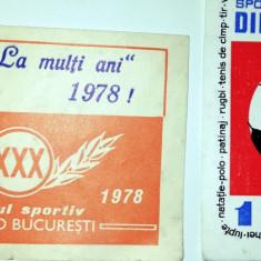 LOT 2 CALENDAE / CALRNDAR - CLUBUL SPORTIV DINAMO BUCURESTI - 1970 /1978