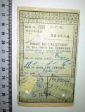 BILET TREN / CFR -1967 -BILET DE CALALTORIE