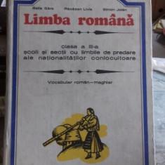 LIMBA ROMANA. CLASA A III-A - BALLA SARA