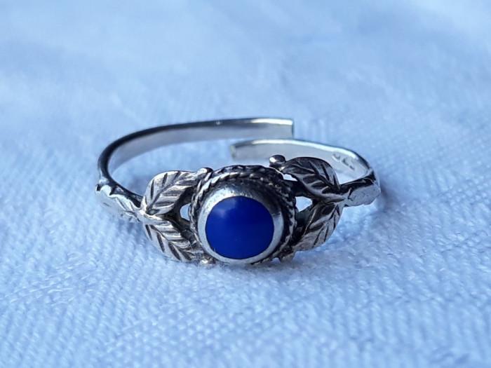 INEL argint cu LAPIS LAZULI tribal VECHI reglabil FINUT vintage De EFECT