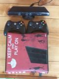 XBOX 360, 2 controllere, kinect, 114 jocuri