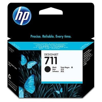 Cartus cerneala Original HP Negru 711, compatibil DesignJet T120/T520, 80ml... foto mare