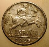 2.060 SPANIA 10 CENTIMOS 1945, Europa, Aluminiu