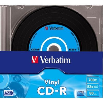 """CD-R Verbatim DATALIFE PLUS 52X 700MB 10PK SC VINYL """"43426"""" foto"""
