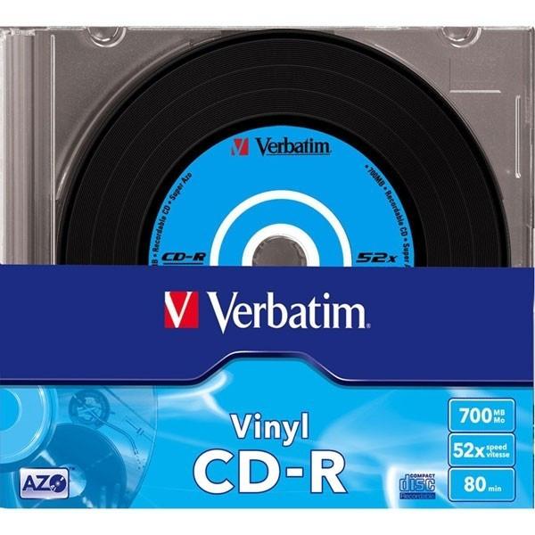 """CD-R Verbatim DATALIFE PLUS 52X 700MB 10PK SC VINYL """"43426"""""""