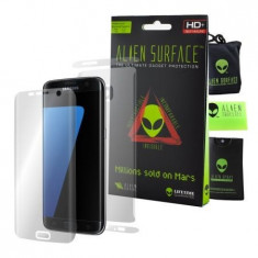 Folie Alien Surface HD, Samsung GALAXY S7 Edge, protectie ecran, spate, laterale