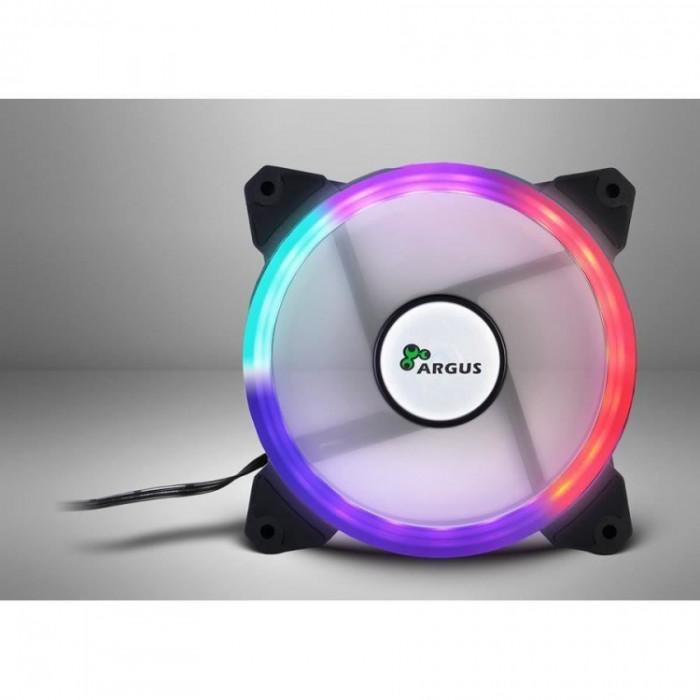 Ventilator Inter-Tech Argus RS01 , 120 mm , 1200 RPM , LED RGB foto mare