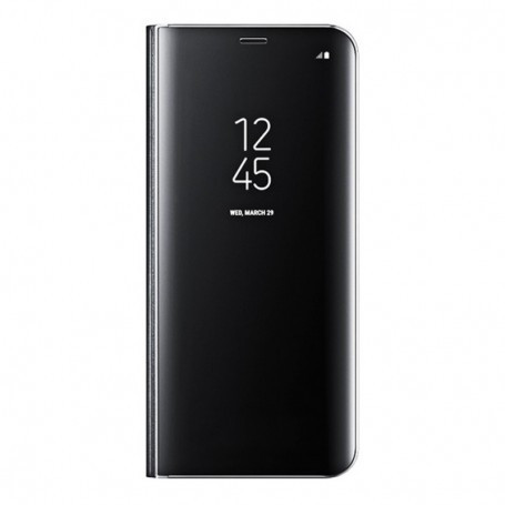 Husa de protectie Clear View Standing pentru Samsung Galaxy S8 - Black