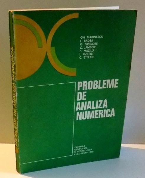 PROBLEME DE ANALIZA NUMERICA DE GH . MARINESCU .... C. STEFAN , 1978 foto mare