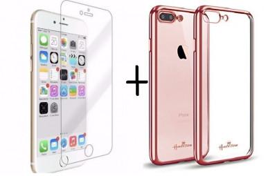 Pachet husa Elegance Luxury placata Rose-Gold pentru Apple iPhone 7 cu folie de protectie gratis foto