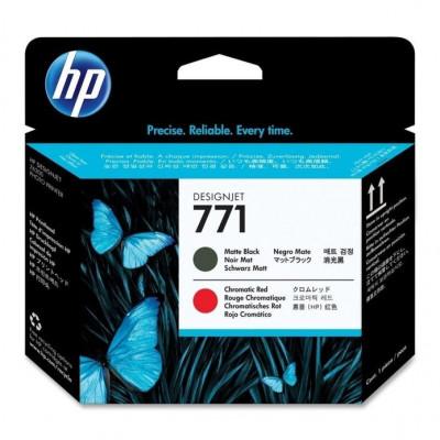 Cartus cerneala Original HP Negru Matte+Red Chromatic 771 Printhead, compatibil... foto