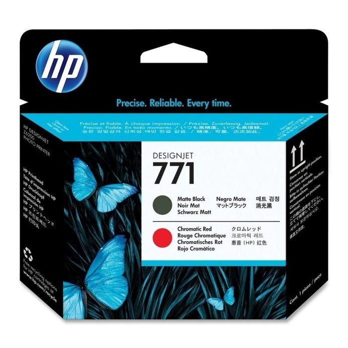 Cartus cerneala Original HP Negru Matte+Red Chromatic 771 Printhead, compatibil...
