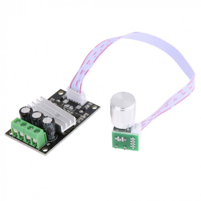 Controler motor DC 6-28V ( 3A - 80W) PWM / Speed controller (CN65)
