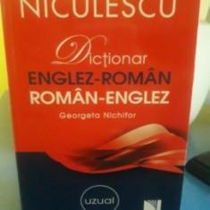 Dictionar Uzual Englez-Roman/Roman-Englez, niculescu