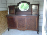 Servanta art deco  cu 3 usi  si sticla de cristal, Sufragerii si mobilier salon, 1900 - 1949