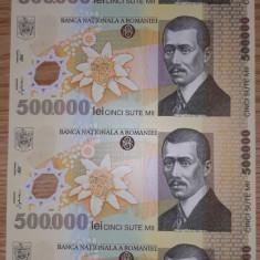 LOT COLI BNR  500000 si 10000 -LEI cu CERTIFICAT DE AUTENTICITATE / F930