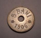5 bani 1906 J UNC Piesa de Colectie