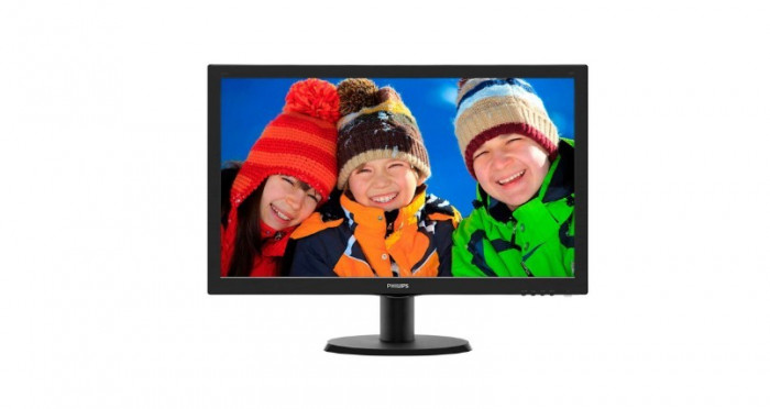 "MONITOR PHILIPS 23.6"" LED, 1920x1080, 8ms, 250cd/mp, vga+dvi, ""243VQ5HSBA/00""... foto mare"