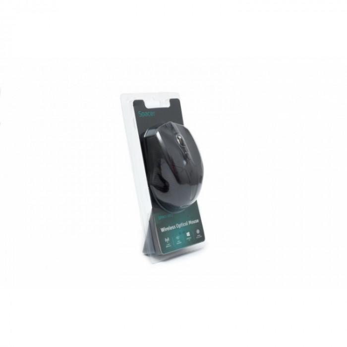 Mouse Spacer SPMO-W02 , Fara fir , Optic , 1600 DPI , Negru