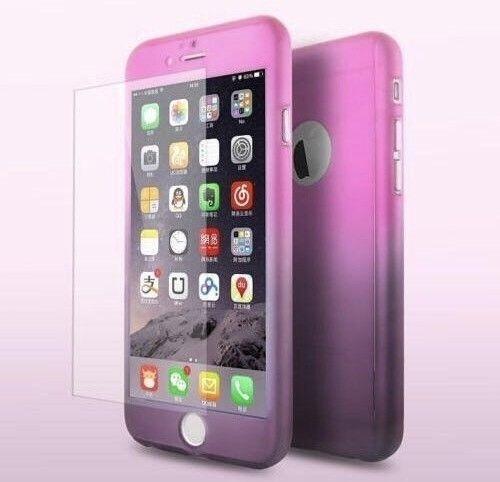 Husa FullBody Elegance Luxury Degrade pentru Apple iPhone 6 Plus / Apple iPhone 6S Plus acoperire completa 360 grade cu folie de protectie gratis foto mare