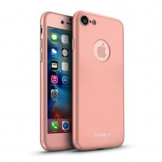Husa FullBody Elegance Luxury iPaky Rose-Gold pentru iPhone 6 Plus / Apple iPhone 6S Plus acoperire completa 360 grade cu folie de protectie gratis