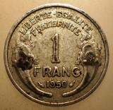2.877 FRANTA 1 FRANC 1950, Europa, Aluminiu