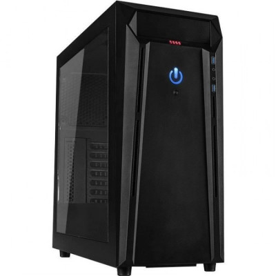 Carcasa desktop Inter-Tech N21-02 Arthurus , Middle Tower , Recomandat gaming , Negru foto