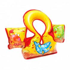 Vesta inot cu guler gonflabil si aripioare, pentru copii, +3 ani, Unisex