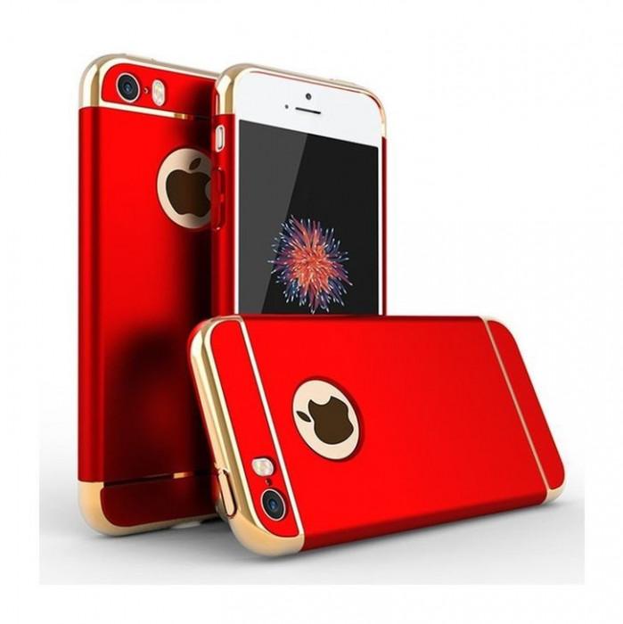 Husa Elegance Luxury 3in1 Ultrasubtire Red pentru Apple iPhone 7 Plus foto mare