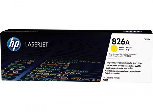 """Toner Original pentru HP Yellow 826A, compatibil M855x, 31500pag """"CF312A"""""""