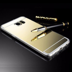 Husa Samsung Galasy S6 Egde TIP OGLINDA AURIE ( GOLD)