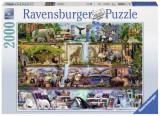 Puzzle Animale, 2000 piese, Ravensburger