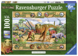 Puzzle dinozauri, 100 piese, Ravensburger