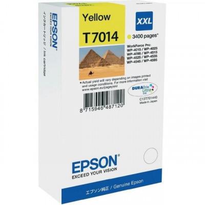 Cartus cerneala Original Epson Yellow C13T70144010 compatibil WP4000/4500... foto