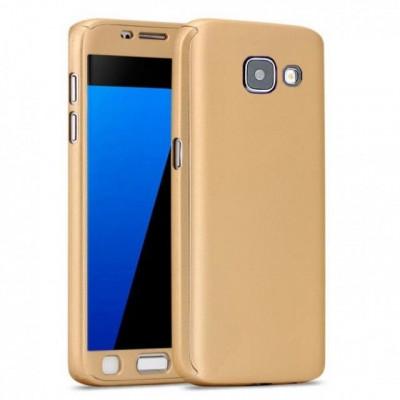 Husa FullBody Elegance Luxury Gold pentru Samsung Galaxy A5 2016 acoperire 360 grade cu folie de protectie GRATIS ! foto