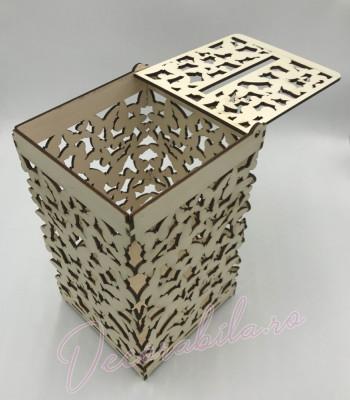 cutie dar pentru nunta, cutie nunta, cutie handmade, cutie lemn, cutie p foto