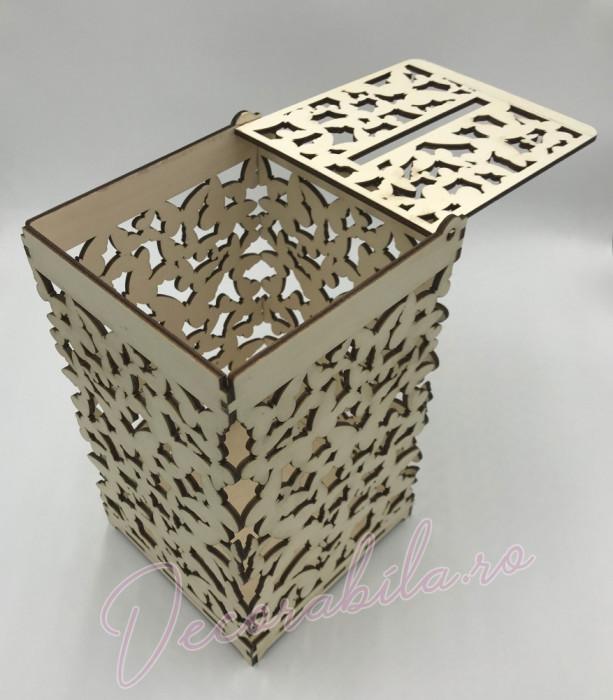cutie dar pentru nunta, cutie nunta, cutie handmade, cutie lemn, cutie p foto mare