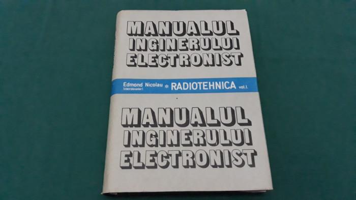 MANUALUL INGINERULUI ELECTRONIST* RADIOTEHNICA/ EDMOND NICOLAU/ 1987