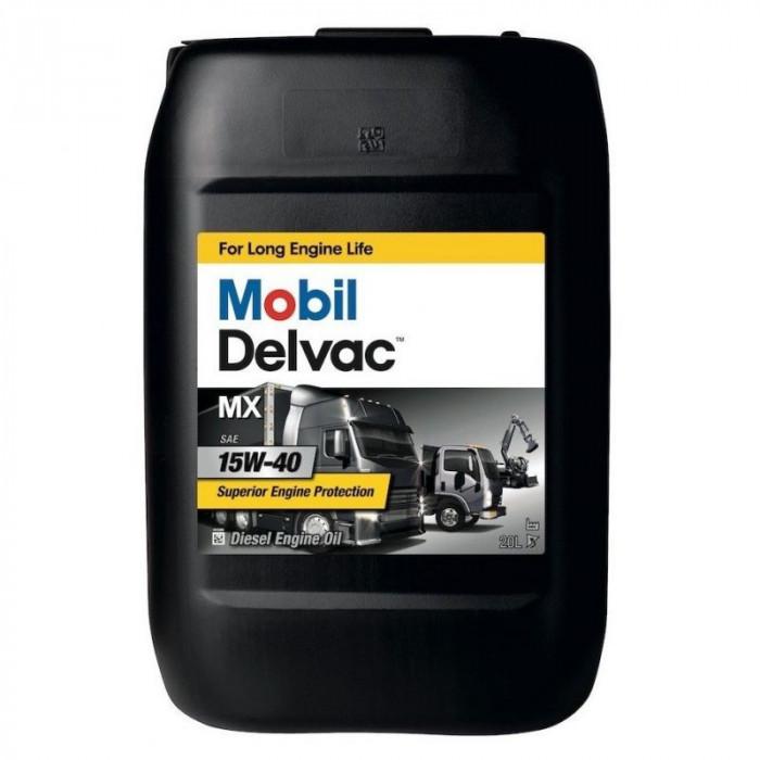 Ulei motor Mobil Delvac MX 15W-40 20L foto mare