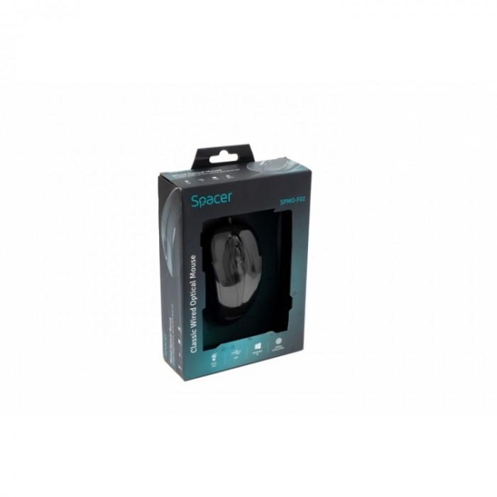 Mouse Spacer SPMO-F02 , Optic , 1000 DPI , Negru